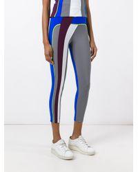 No Ka 'oi - Gray Stripe Detail Leggings - Lyst