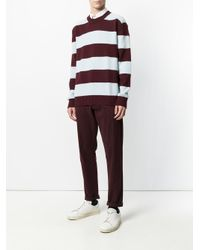 Laneus | Brown Striped Knit Jumper for Men | Lyst