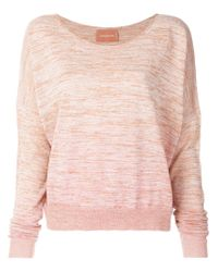 Zadig & Voltaire - Pink Dropped Shoulder Sweater - Lyst