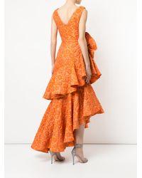 Bambah - Orange Zinnia Spiral Gown - Lyst