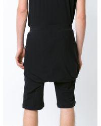 Thamanyah | Black Drop-crotch Shorts for Men | Lyst