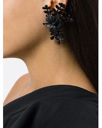DSquared² | Black Floral Earrings | Lyst
