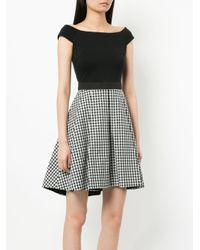 Guild Prime - Black Contrasting Gingham Panel Dress - Lyst
