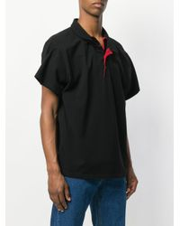Y. Project - Black Double Collar Polo Shirt for Men - Lyst