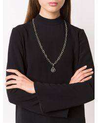 Loree Rodkin | Metallic Small Tear Drop Sliced Diamond Pendant | Lyst