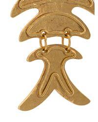 Oscar de la Renta - Metallic Fish Short Earrings - Lyst