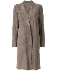Salvatore Santoro - Gray Single-breasted Boxy Coat - Lyst