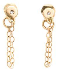 Melissa Joy Manning   Metallic Chain-wrap Diamond Post Earrings   Lyst
