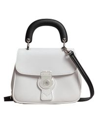 Burberry - White Small Dk88 Top Handle Bag - Lyst