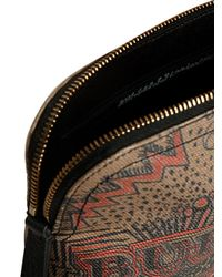 Burberry - Brown Doodle Print Check Pouch - Lyst