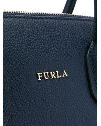 Furla Blue Pin Satchel Bag