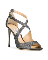 Jimmy Choo - Metallic Emily 100 Sandals - Lyst