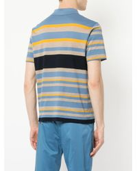 Cerruti 1881 - Blue Multi-stripe Polo Shirt for Men - Lyst