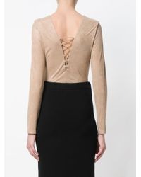 T By Alexander Wang - Natural Corset-style Bodysuit - Lyst