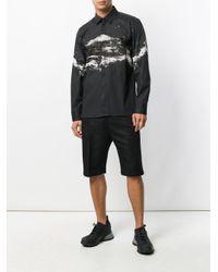 Neil Barrett Black Abstract Print Shirt for men