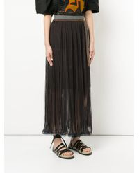 Kolor - Blue Pleated Belted Skirt - Lyst