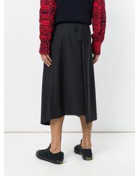 Moohong - Black Asymmetric Draped Shorts for Men - Lyst