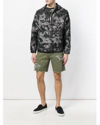 Just Cavalli - Green Distressed Utility Shorts for Men - Lyst