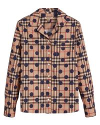 Burberry - Multicolor Polka-dot Check Pyjama-style Shirt - Lyst