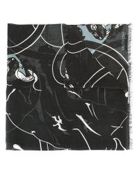 Valentino | Black Garavani Printed Scarf for Men | Lyst