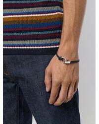 Ferragamo - Blue Braided Gancio Bracelet for Men - Lyst