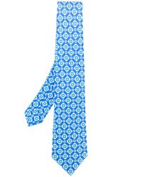 Kiton - Blue Floral Pattern Tie for Men - Lyst