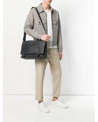 Orciani - Black Logo Plaque Shoulder Bag for Men - Lyst