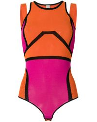 Pinko Multicolor Color Block Bodysuit