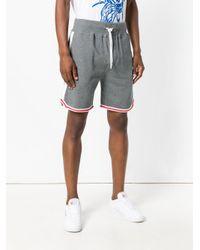 DIESEL - Gray Drawstring Waist Shorts for Men - Lyst