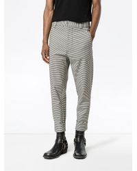 Haider Ackermann - Black Rothko Ivory Cuff Detail Trousers for Men - Lyst