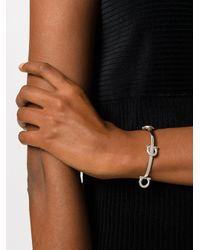 Ferragamo - Metallic Gancio Charm Bracelet - Lyst