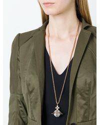Vivienne Westwood   Metallic Logo Pendant Necklace   Lyst