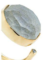 Katerina Makriyianni - Metallic Jade Open Ring - Lyst