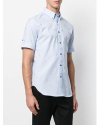 Alexander McQueen - Blue Camicia Classica In Jacquard 'skull' for Men - Lyst