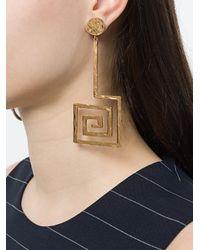 Jacquemus - Metallic La Spirale Drop Earrings Gold - Lyst