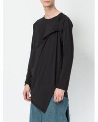 Moohong - Black Asymmetric T-shirt for Men - Lyst