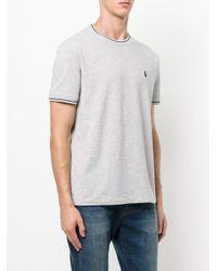 Polo Ralph Lauren - Gray Logo Embroidered Piquet T-shirt for Men - Lyst