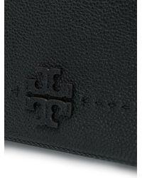 Tory Burch - Black Front Logo Crossbody Bag - Lyst