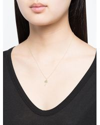 Sydney Evan - Metallic 14kt Yellow Gold Diamond Palm Tree Necklace - Lyst