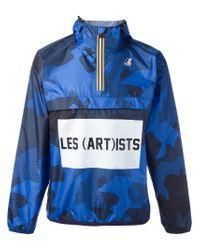LES (ART)ISTS | Blue K-way X Les (art)ists Logo Print Jacket for Men | Lyst