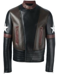 Veste de moto colour block Givenchy pour homme en coloris Black