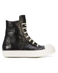 Rick Owens - Black High Ramone Sneakers for Men - Lyst