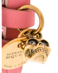 Alexander McQueen - Pink Charm Double Wrap Bracelet - Lyst
