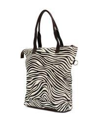P.A.R.O.S.H. - Brown Zebra Panel Shopper Tote - Lyst