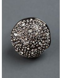 Alexis Bittar - Gray Crystal Studded Ring - Lyst
