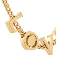 Chloé - Metallic Love Lettered Necklace - Lyst