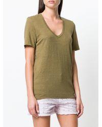 Étoile Isabel Marant - Green V-neck T-shirt - Lyst