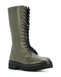 Moschino - Green Lace-up Boots - Lyst