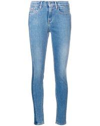 Calvin Klein - Blue High Rise Vertical Stripe Skinny Jeans - Lyst