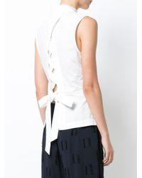 10 Crosby Derek Lam - White Lace Button-down Shirt - Lyst
